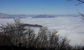 vista da marana - un mare ... di nebbia